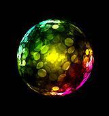 Three-dimensional colorful sphere design