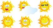 Different Sun Cartoon