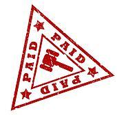 Paid grunge stamp