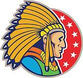 Native American Indian Headgear Side