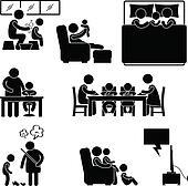 Family Activity House Home Symbol