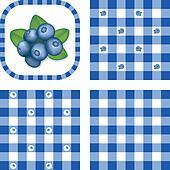 Seamless Patterns, Berries, Gingham