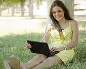 Telecommuting at a park