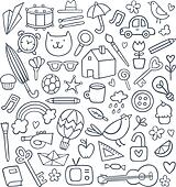 Vector set of 50 doodles