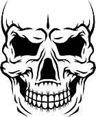 Danger human skull