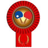 olympiad of the table tennis to ball gold(en) medal of the red t