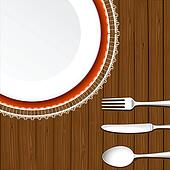 Dish with Cutlery