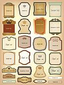 Ornamental gold of frames. Vector collection