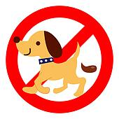 Excrement prohibition of dog