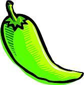 Illustration of a green pepper
