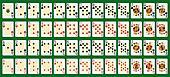 blackjack full deck in large size. Original figures.