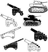 cannons and tanks