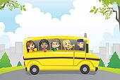 Kids in school bus