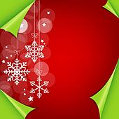 Abstract colorful red christmas background. vector illustration