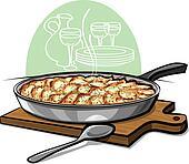 Potato gratin backed in pan