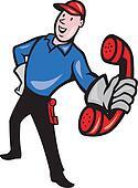 Telephone Repairman Worker Phone