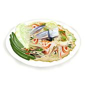 Thai Papaya Salad with freshwater