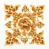 Golden Flower of Damask Seamless