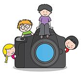 children with a camera