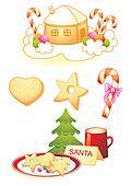 Christmas symbols,