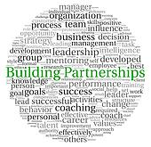 Building Partnerships concept in word tag cloud