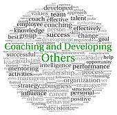 Coaching and Developing concept in word tag cloud