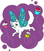 Cat and cupcakes