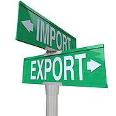 Import Export International Trade Two-Way Street Sign