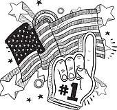 Anmerican patriotic sketch