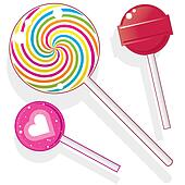 Lollipops and suckers vector