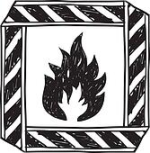 Flammable warning label