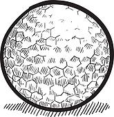 Golf ball sketch