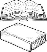Book or bible sketch