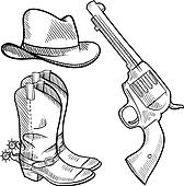Cowboy objects sketch
