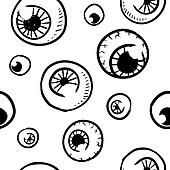 Seamless eyeball vector background
