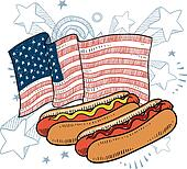 American hot dog sketch