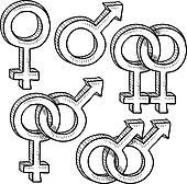 Relationship gender symbols sketch