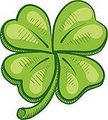 Four leaf clover sketch