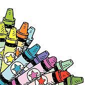 Colored pencil corner background