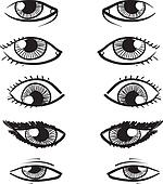 Eyes vector sketch