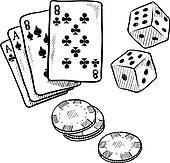Gambling objects sketch