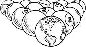 Global billiards sketch
