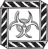 Biohazard warning sketch