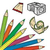 Colored pencil corner sketch