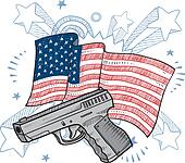 America loves guns sketch