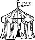 Circus big top sketch