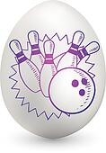 Bowling on easter egg