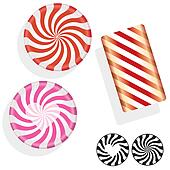 Round swirl hard candy illustration