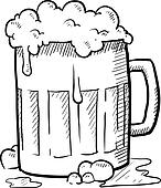 Beer mug sketch