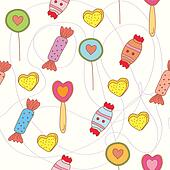 Sweets seamless funny pattern cartoon